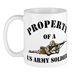 Property US Army Soldier Military Mug