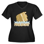 Fail Boat Women's Plus Size V-Neck Dark T-Shirt