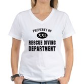 Rescue Diving Department Women's V-Neck T-Shirt