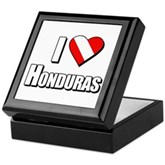  Scuba: I Love Honduras Keepsake Box