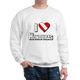  Scuba: I Love Honduras Sweatshirt
