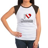  Scuba: I Love Honduras Women's Cap Sleeve T-Shirt