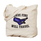Have Fins Will Travel Tote Bag