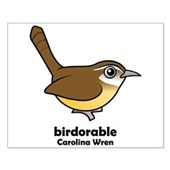 Birdorable Carolina Wren Small Poster