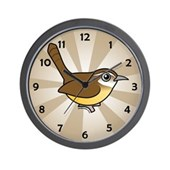 Birdorable Carolina Wren Wall Clock