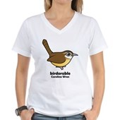 Birdorable Carolina Wren Women's V-Neck T-Shirt