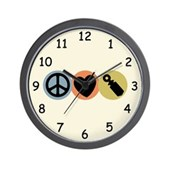  Peace Love Pish Wall Clock