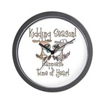 Goat Kidding Season Wall Clock