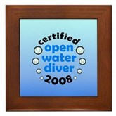 Open Water Diver 2008 Framed Tile