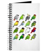 16 Birdorable Parrots Journal