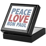 Peace Love Ron Paul Keepsake Box
