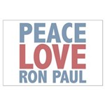 Peace Love Ron Paul Large Poster