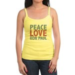 Peace Love Ron Paul Jr. Spaghetti Tank