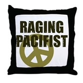 Raging Pacifist Throw Pillow