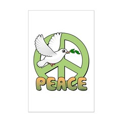 Birdorable Peace Dove Mini Poster Print