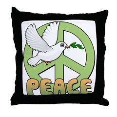 Birdorable Peace Dove Throw Pillow