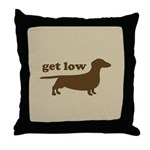 Get Low Throw Pillow