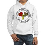 Part of my Heart is Deployed - Military Hooded Swe