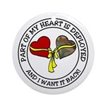 Part of my Heart is Deployed - Military Ornament (