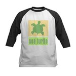 Bar Code Turtle Kids Baseball Jersey