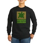Bar Code Turtle Long Sleeve Dark T-Shirt