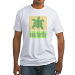 Bar Code Turtle Fitted T-Shirt