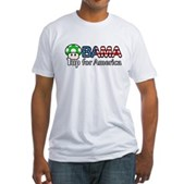 Obama 1up for America Fitted T-Shirt