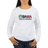Obama 1up for America Women's Long Sleeve T-Shirt