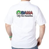 Obama 1up for America Golf Shirt