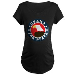 Obama For Peace Maternity Dark T-Shirt