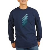 Stacked Obama Blue Long Sleeve Dark T-Shirt