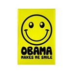 This pro-Obama design reads Obama Makes Me Smile below a big, bold smiley face. Everyone in America was smiling when President Barack Obama took office in January 2009. Support Obama with a smile!