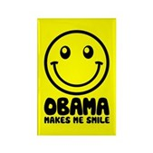 Obama Makes Me Smile Rectangle Magnet