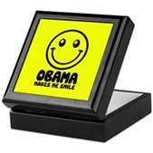 Obama Makes Me Smile Keepsake Box