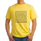 All Presidents up to Obama Yellow T-Shirt