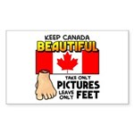 Canada Severed Foot Sticker (Rectangle)