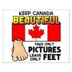 Canada Severed Foot Small Poster
