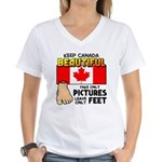 Canada Severed Foot Women's V-Neck T-Shirt