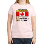 Canada Severed Foot Women's Light T-Shirt