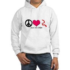 Peace, Love, Twilight Hooded Sweatshirt