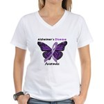 AD Butterfly Women's V-Neck T-Shirt