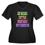 Just Because... Women's Plus Size V-Neck Dark T-Sh