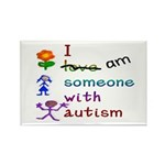 I Am Someone with Autism Rectangle Magnet (10 pack