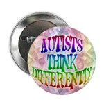 "Autists Think Differently 2.25"" Button (100 pack)"