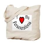 I Heart My Perseverations Tote Bag