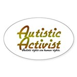 Autistic Activist v2 Sticker (Oval)