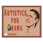 Autistics for Obama Small Poster
