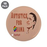 "Autistics for Obama 3.5"" Button (10 pack)"
