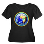 Autistic Planet Women's Plus Size Scoop Neck Dark