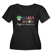 2up for America Women's Plus Size Scoop Neck Dark